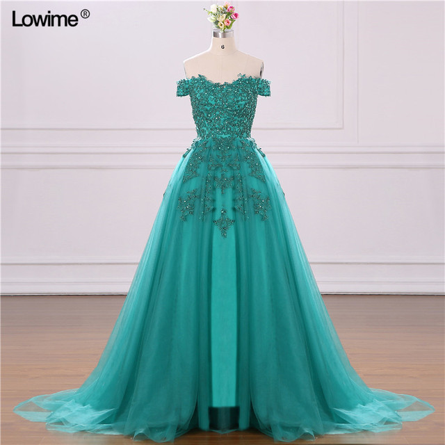 Sexy Long Green Elegant Short Sleeves Backless Tulle Formal Evening Party Dress Turkish Arabic Gowns Dresses 2018
