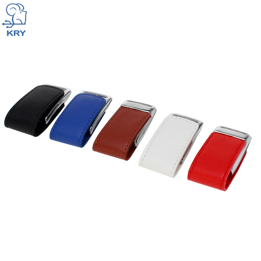 KRY Custom LOGO high-speed usb3.0 flash memory metal leather 4GB 8GB 16GB 32GB 64GBusb2.0 pen hard drive interface Memory Stick