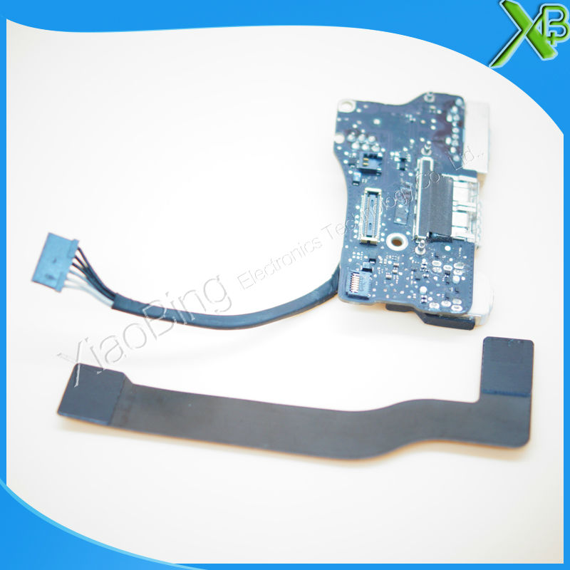 820-3455-A DC Power Jack USB I/O Board with cable 821-1722-A For MacBook Air 13.3 A1466 2013-2015years i o board usb sd card reader board 820 3071 a 661 6535 for macbook pro retina 15 a1398 emc 2673 mid 2012 early 2013