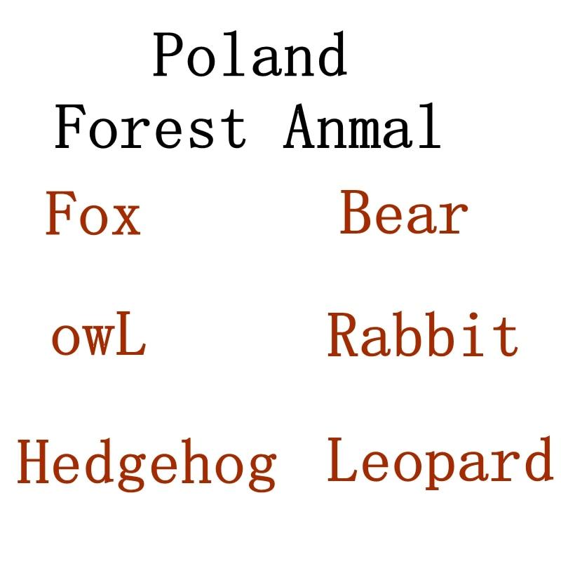 Sweetie Forest Pluszaki Gang Slodziakow Animals Toy,funny Forest Fox Bear Lynx Beaver Stuffed  Plush Doll Kids Christmas Gift