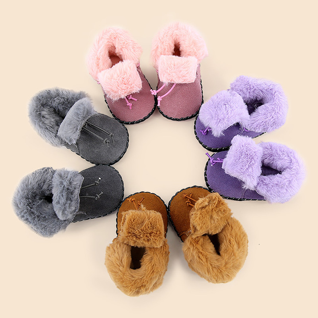 0-1 years old men and women baby soft bottom shoes thick warm snow boots shoes
