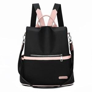 Image 1 - ファッション盗難防止女性バックパック有名なブランドの女性大容量のバックパック高品質防水オックスフォード女性バックパック