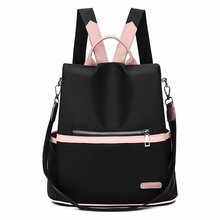 Fashion Anti theft Women Backpacks Famous Brand Ladies Large Capacity Backpack High Quality Waterproof Oxford Women Backpacks