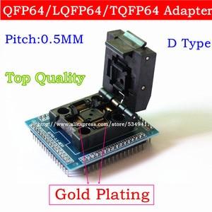 Image 2 - Adaptador de enchufe QFP64 TQFP64 LQFP64, zócalo de prueba de circuito integrado, programador de 0,5 m, toma STM32 QFP64, Envío Gratis
