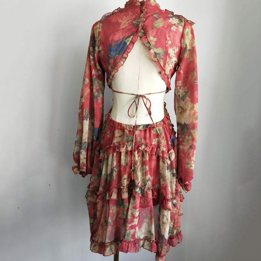 Vacances Automne Mode Nu Dos Robe Imprimer automne Longues 1 Designer Piste Femmes À Vocation Sexy Nouvelle Manches Soie Et Fleur qxCAxSBw