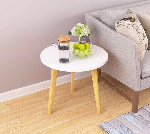 Nordic Style Solid Wood Tea Table Simple Sofa Side Table Living Room