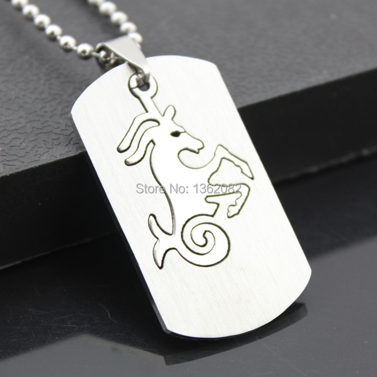 Zodiac Dog Tag Necklace: Aliexpress.com : Buy 2 In 1 Constellations Pendant Amulet