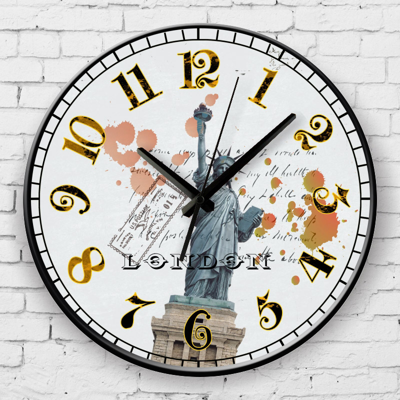 american style living room decor watch wall silent bedroom d