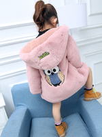 2017 Kids Girls Winter Coat Fake Fur Thicken Warm Girl Coats Hoodies Jackets Children Clothing Outfits