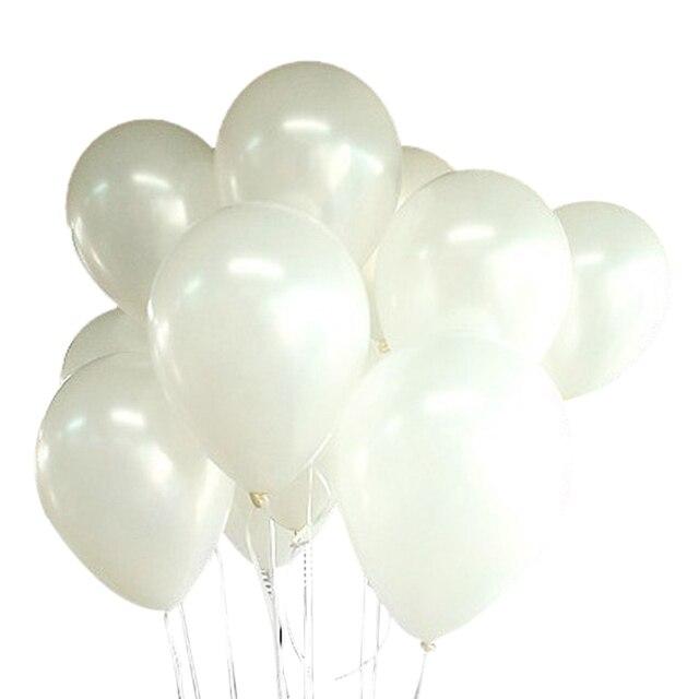 100バルーンバースデーウェディングパーティーの装飾クラブ風船25センチメートル色: 白