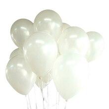100 ballons anniversaire mariage fête décoration Club ballons 25 cm couleur: blanc