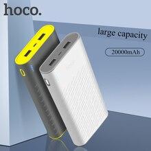 HOCO Power Bank 20000mAh Universal Powerbank Portable External Battery Charger For iPhone X XS XR 8 Xiaomi 8 Dual USB Pover Bank pg 1 universal dual usb 14000mah portable power bank for ipad iphone samsung more blue