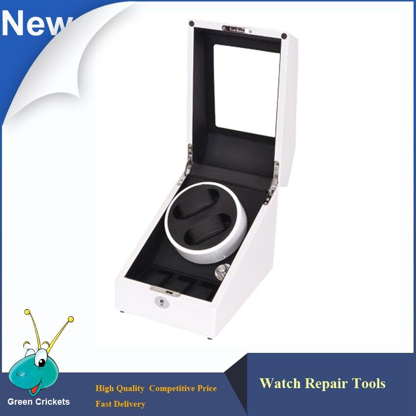 Remontoir de montre à moteur allemand Ultra luxe 2 + 3 5 Modes, couleur blanche en bois noir PU Leater à l'intérieur de remontoir de montre automatique