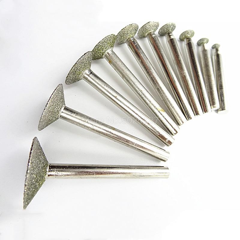 1 piezas 6 MM vástago de diamante La pulido abrasivo de uñas poco Jade piedra de corte de Metal de perforación rebabas herramienta esmeralda de