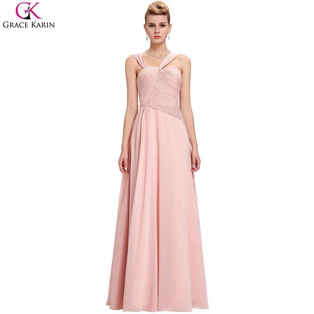 Aliexpress.com: Comprar Grace karin vestidos de gasa piso longitud ...