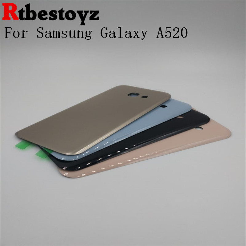 RTBESTOYZ For Samsung Galaxy A5 2017 A520 Battery Door Housing Cover Case For Samsung A520 Battery Cover Shell Replacement Parts