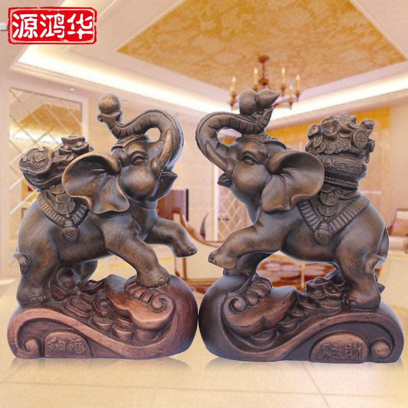 the new wooden ornaments resin crafts gifts wholesale auspicious auspicious ornaments like a fortune of money