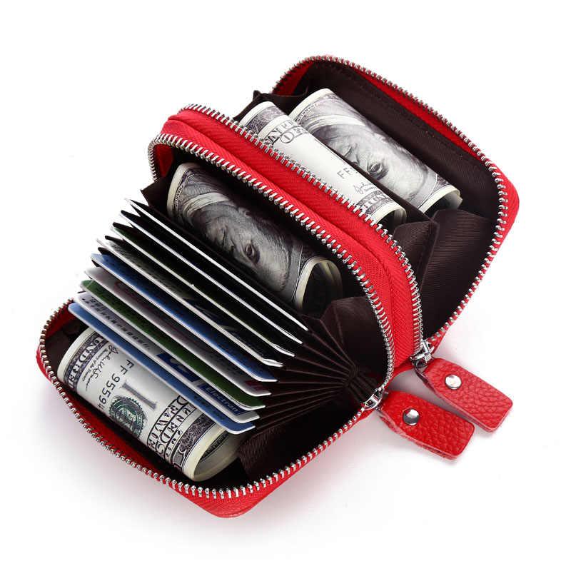 Кевин Юн, модный бренд, натуральная кожа, Женский держатель для карт, двойная молния, большая емкость, Женский чехол для ID, кредитных карт, сумка, кошелек