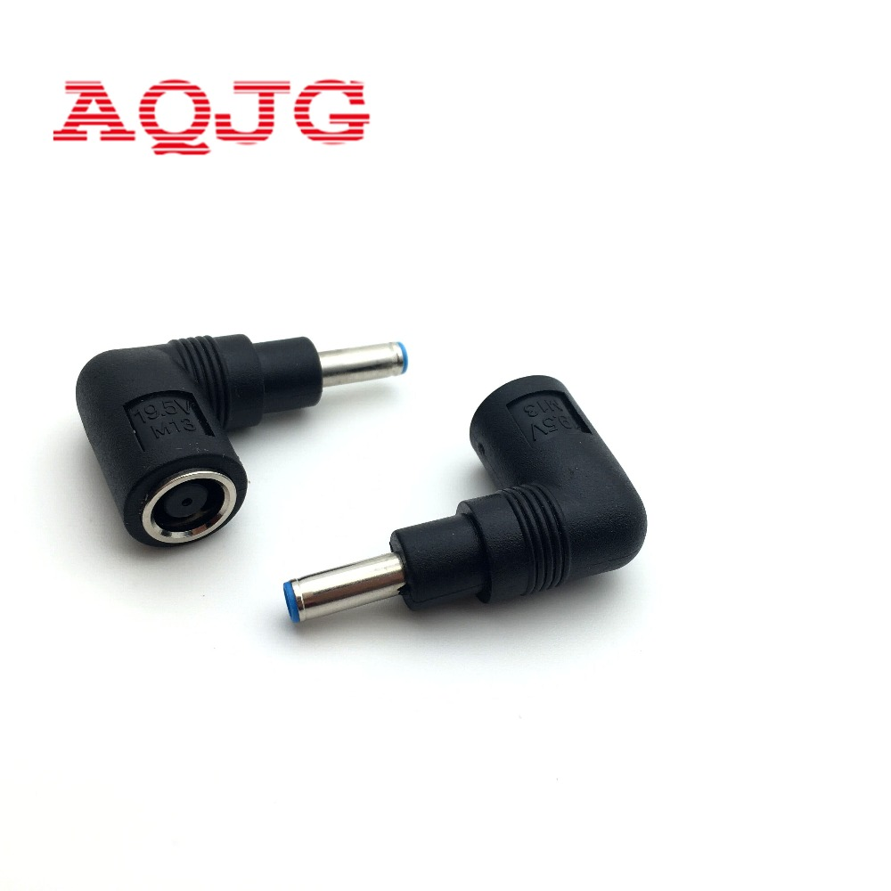 10pcs DC 7.4*5.0 mm Female To 4.5*3.0 mm 90 Angle Male Power Bend Connector For Dell HP