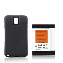 High Real Capacity 9600mAh Extended Battery For Samsung Galaxy Note 3 III N9000 with Black Case Cover Phone NFC Bateria