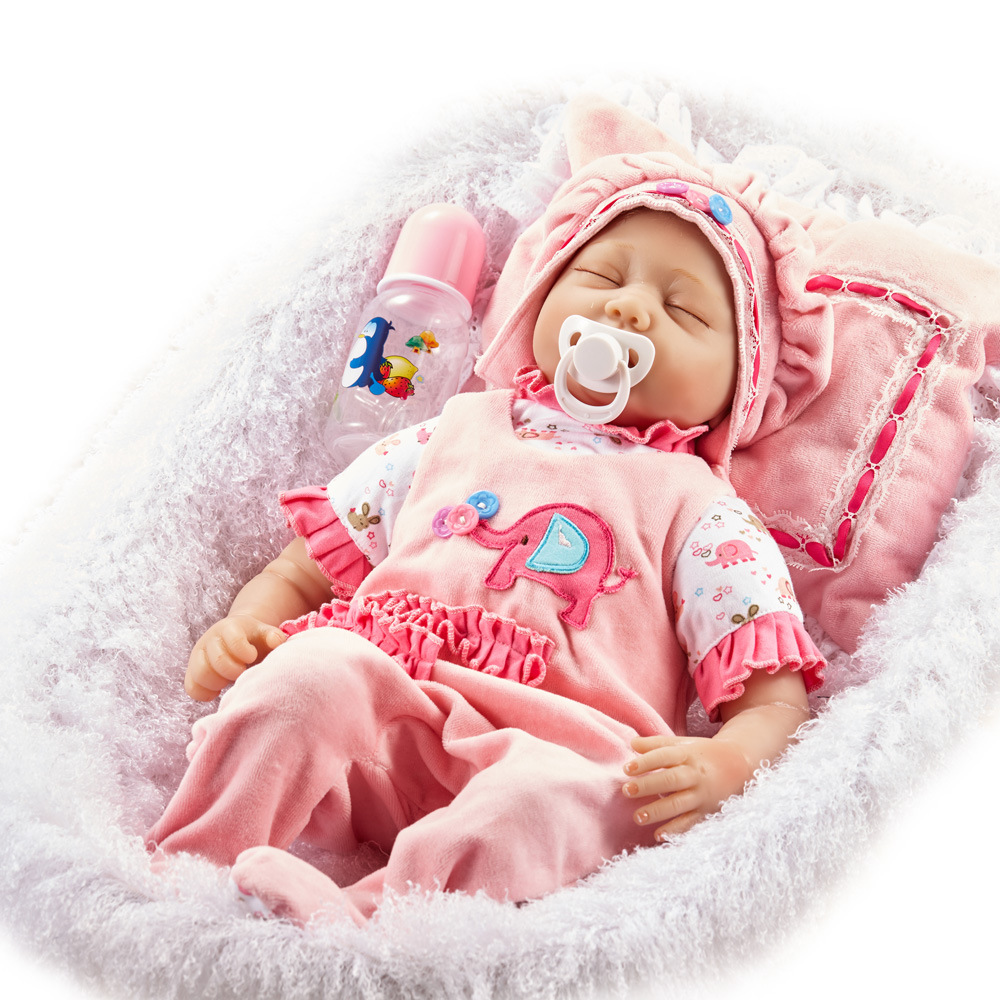 55CM 22'' Handmade Reborn Silicone Babies Dolls Realistic Reborn Baby de silikon Dolls For girls Gifts eric tyson small business taxes for dummies