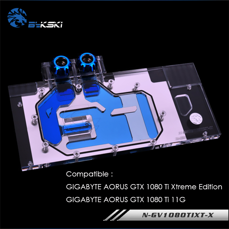 Bykski N GV1080TIXT X GPU water block for GIGABYTE AORUS GTX 1080 Ti Xtreme Edition AORUS