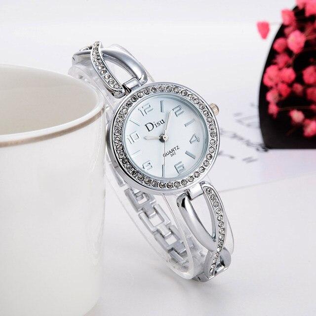 Fashion Women Bracelet Watches Rhinestone Alloy Strap Wristwatch Ladies Girls Ca