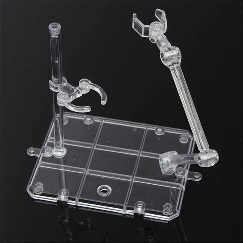 Kicute Action Base Suitable Display Stand for 1/144 HG/RG Figure+Hook Blue Transparent Movable Bracket Model Lab Clamp