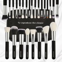 25pcs Black /silver Foundation Brush Set Wooden Makeup Brushes Sets Eyebrow Contour Eyeshadown Kit Maquiagem