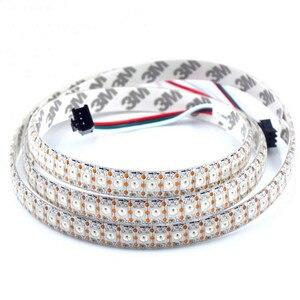 Image 2 - WS2812B DC5V wodoodporna taśma pikselowa led light 1 m/4 m/5 m 2812 IC wbudowana indywidualnie adresowalna lampa taśmowa RGB 30/60/144 leds/m