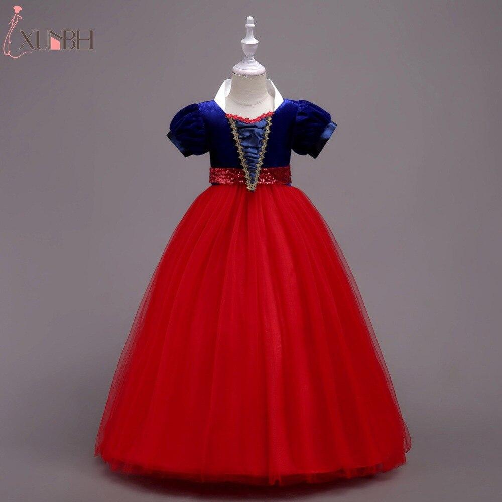Lovely Floor Length Velvet Tulle Cosplay   Flower     Girl     Dresses   2019 Appliqued   Dresses   For   Girls   Kids Prom   Dresses   vestido daminha