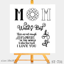 AZSG I LOVE YOU Clear Stamps/Silicone Transparent Seals for DIY scrapbooking Card Making 10*10cm