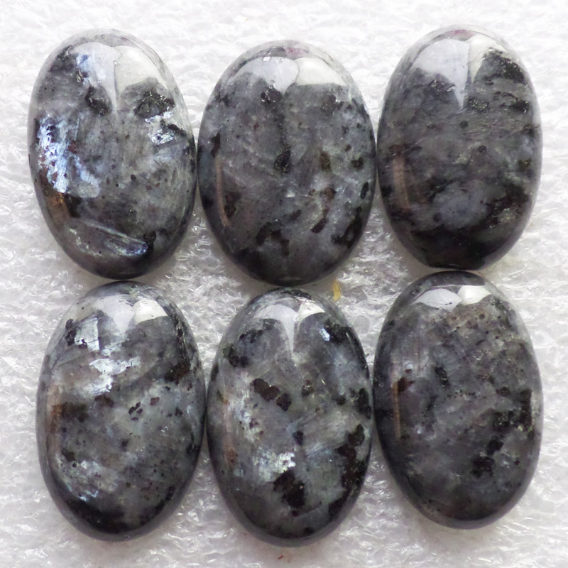 (6 pieces/lot) Wholesale Natural Larvikite Oval CAB Cabochon 30x20x7mm Free Shipping Fashion Jewelry ZY11534