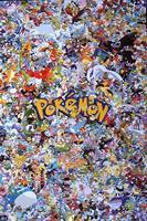 Покемон очень занят высокое КАЧЕ очень подробные мультфильм искусство печати плакатов 20X30