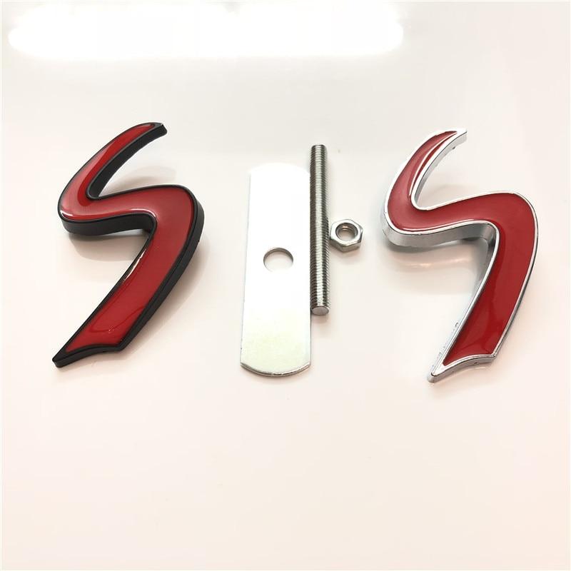 50X 3D Metal S Front Grille Emblem Sticker Badge Decals