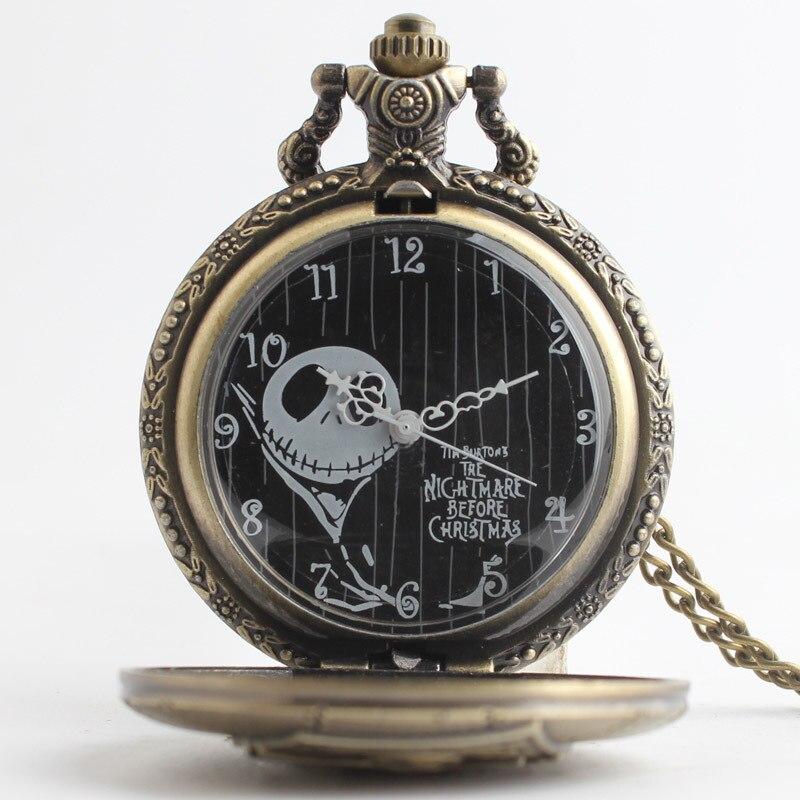 New-Arrive-Cartoon-Movie-Theme-Pocket-Watch-The-Nightmare-Before-Christmas-Relogio-De-Bolso-Bronze-Quartz