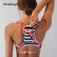 NRAHBSQT противоударный High Impact черный спортивный бюстгальтер с карман для телефона Для женщин Фитнес Йога бюстгальтер Майка укороченная спортивная одежда FZ051