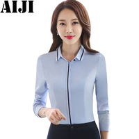 Elegant Formal Blusas Femininas 2018 New Fashion Women S Spring Summer Blouses Long Sleeve Shirts Casual