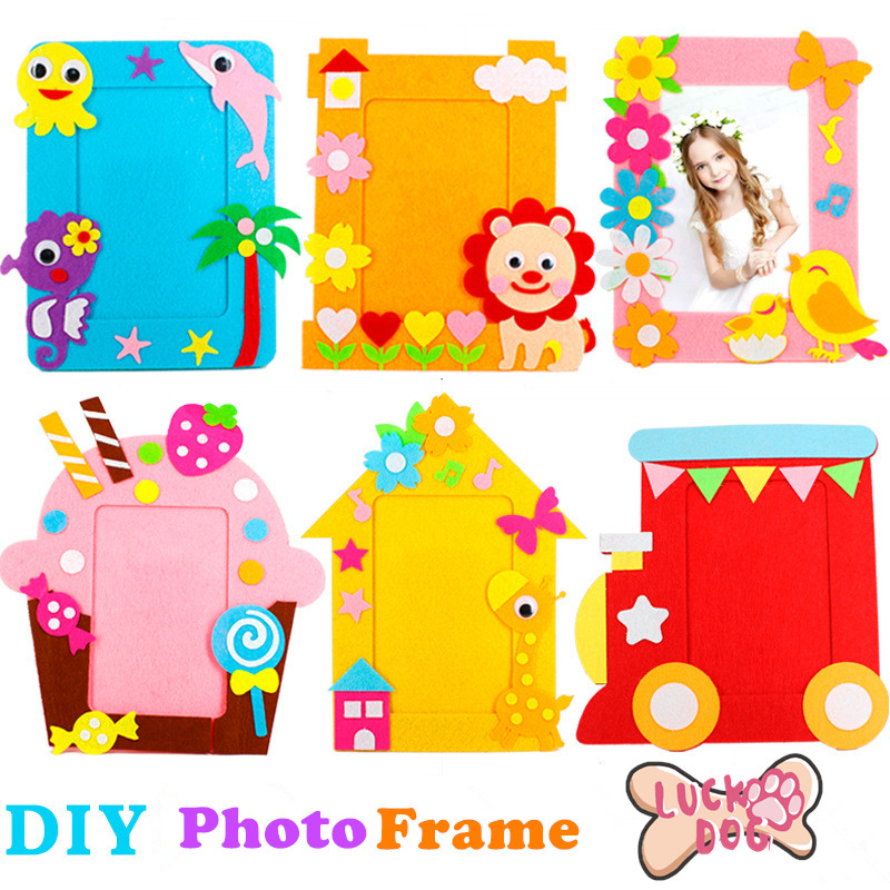 DIY Non-woven Picture Frame 3D Photo Frame Children  Non-woven Stickers Handmade DIY Toys Material Package Craft Toys