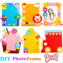 DIY Non-woven Picture Frame 3D Photo Frame Children Non-woven Stickers Handmade DIY Toys Material Package Craft Toys(China)