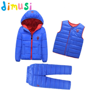DIMUSI Winter Children Sets Girls Thick Warm Parka Down Jacket for baby girl Clothes Boy's Hooded Snow wear kids suit 8T,EA028
