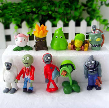Free Shipping 40Pcs/Lot Plants vs Zombies Toy 3-7cm PVZ Collection Plant Zombine Figure Toys Gift