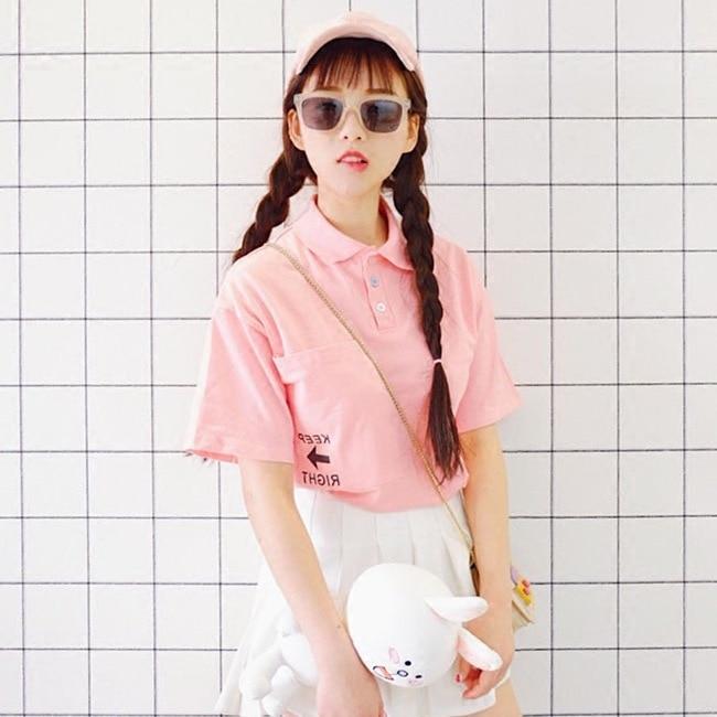 para Paul shirt shirt font b women b font summer fashion relaxed small fresh college wind