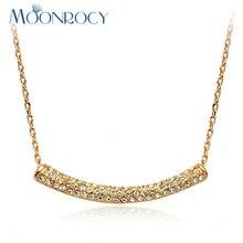 MOONROCY, бесплатная доставка, ювелирные изделия, оптовая продажа, розовое золото, цвет кристалл, ожерелье, австрийский кристалл, ожерелье для женщин, чокер