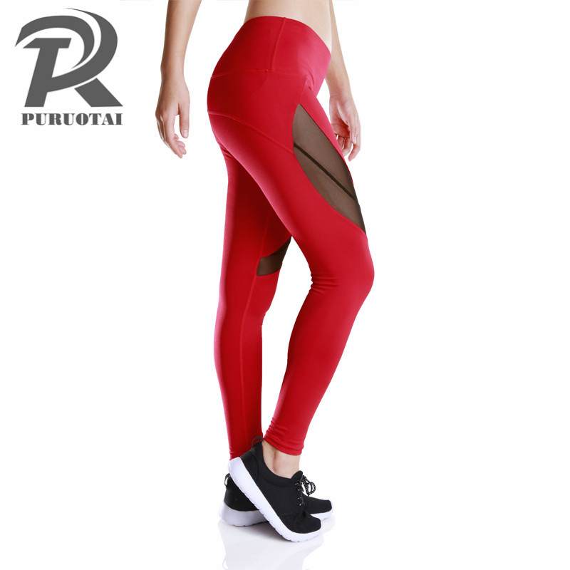 Yoga Pants Women Sports Fitness Leggings for Women Sports Tights Mesh Compression Pants Women Academia Fitness Feminina