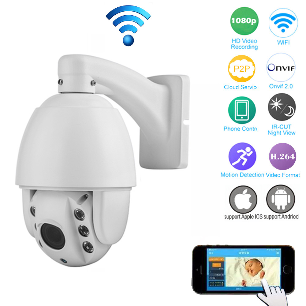 H.264 HD 1080P 2.8-12mm Auto-focus 4xZoom PTZ Wireless WiFi IP Camera 2.0 MP IR-Cut P2P Security CCTV Camera Home Surveillance super small spot high quality glass lens 5mw 650nm red laser module point aiming laser