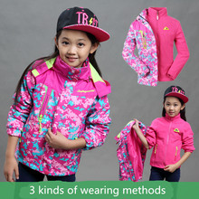 Children Winter Warm Breathable Outdoor Jackets Girls Detachable Liner Jacket Childrens Waterproof Mountaineering Windbreaker