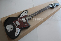 Free Shipping High quality New Arrival jazz Guitar JAGUAR red Pickguard black Electric Guitar 2017 1