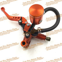 Hydraulic Brake and Clutch Lever for KTM Dirt Bike Pit Bike With Mirror Mounts motorcycle motocross CNC Oil Cup Orange Colour