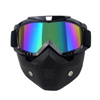 Harley Motorcycle Goggles Retro Face Mask Windproof Sandproof Riding Face Protection